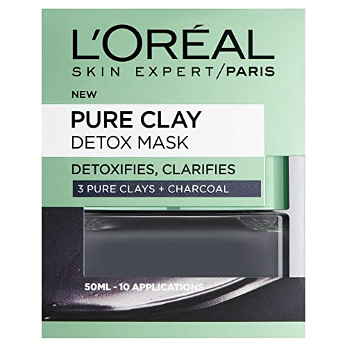 L'Oreal Paris 3 Pure Clays and Charcoal Detox Mask, 50 ml