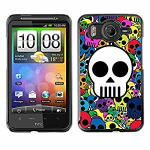 Shell-Star ( Awesome Colorful Skull Pattern ) Fundas Cover Cubre Hard Case Cover para HTC Desire HD / Inspire 4G