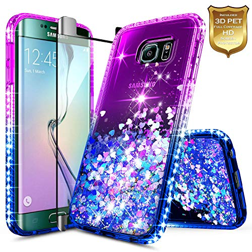 Galaxy S6 Edge Case w/[Full Cover Screen Protector Premium Clear]