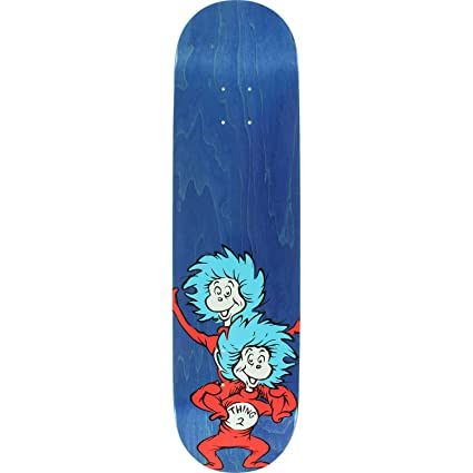 Amazon com : Almost Skateboards Dr  Seuss Thing Stacked Blue