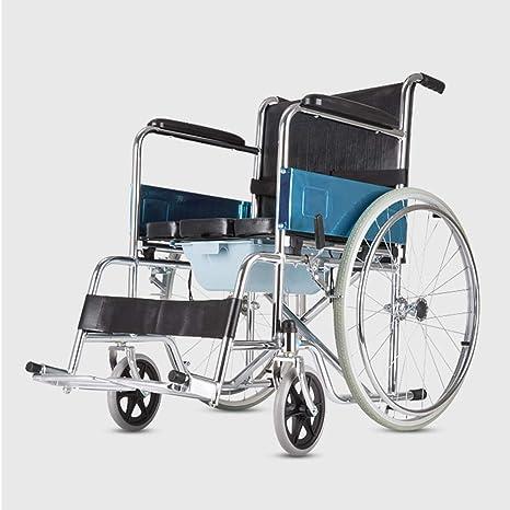Shisky Carro de sillas de Ruedas portátil Ultraligero para ...