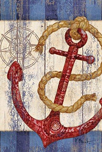 rustic anchor compass decorative nautical
