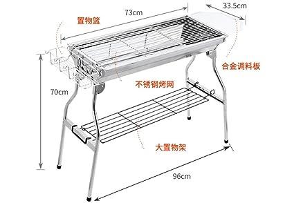 Barbacoa al aire libre, horno de leña plegable para picnic en el hogar, 33.5
