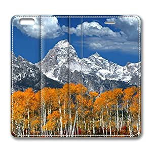 Autumn Mountain Landscape 8 iPhone 6 Plus 5.5inch Leather Case, Personalized Protective Slim Fit Skin Cover For Iphone 6 Plus [Stand Feature] Flip Case Cover for New iPhone 6 Plus by mcsharks