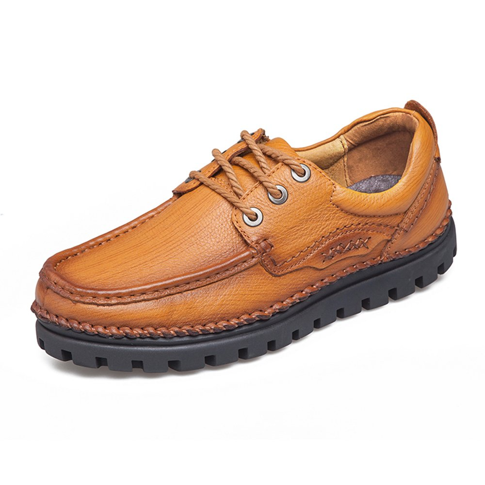 Men's Casual Leather Walking Shoe - Slip-Resistant and Breathable - Perfect for Work and Outdoor Activities 126-43Br