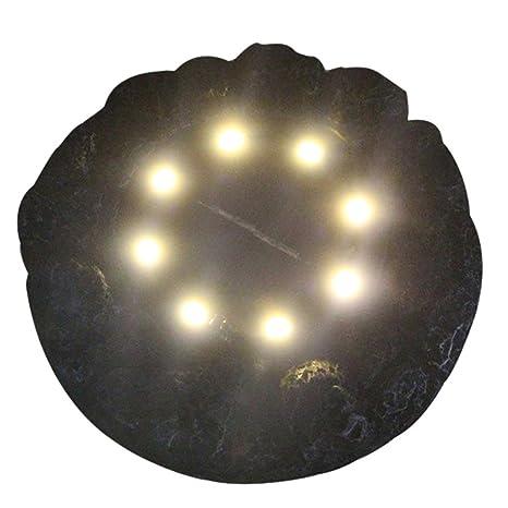 Amazon.com: fheaven 8 LED energía Solar lámpara de piso de ...