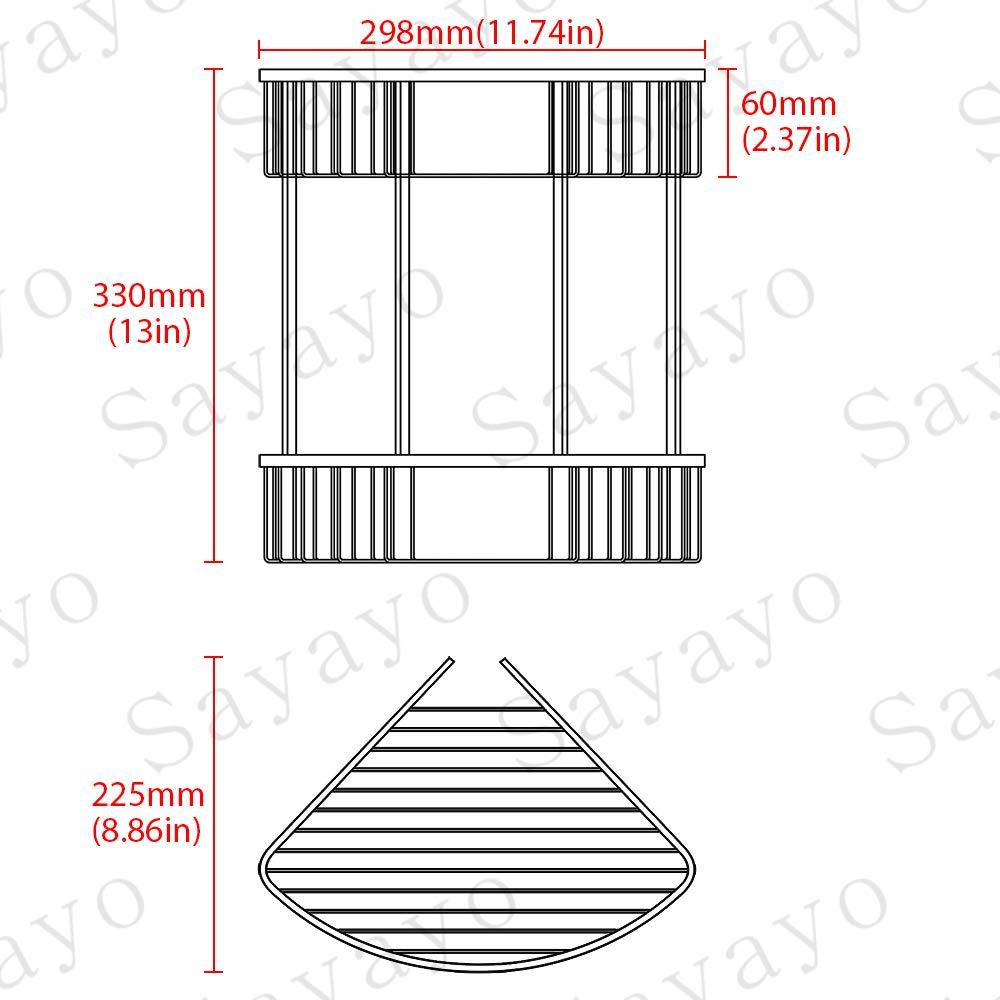 EG7162 Sayayo 2-Tier Shower Basket Bathroom Basket Shower Organiser SUS 304 Stainless Steel Polished Finished