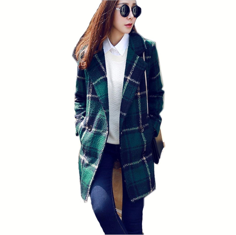 Saoirse Mode Damen Winter Wolle Duffle Trenchcoat Mantel und Jacke