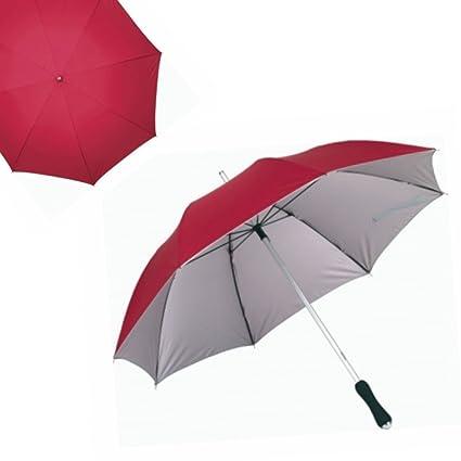 Aluminio y fibra de vidrio paraguas para mujer para hombre bastón paraguas rojo aluminio nuevo lluvia