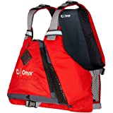 Onyx MoveVent Torsion Paddle Sports Life Jacket, Red, M/L