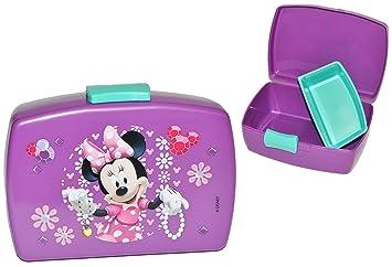 Lunchbox Brotdose Minnie Mouse Lila Mit Extra Einsatz