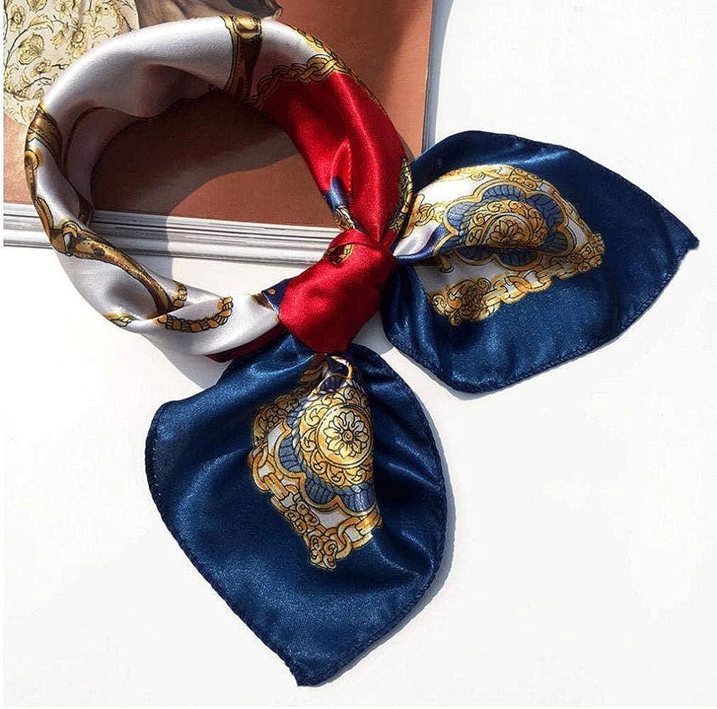 Mesdames Petit Foulard Carr/é Foulard en Soie Imprim/é Cou /écharpe T/ête Cheveux Emballage pour Les Femmes