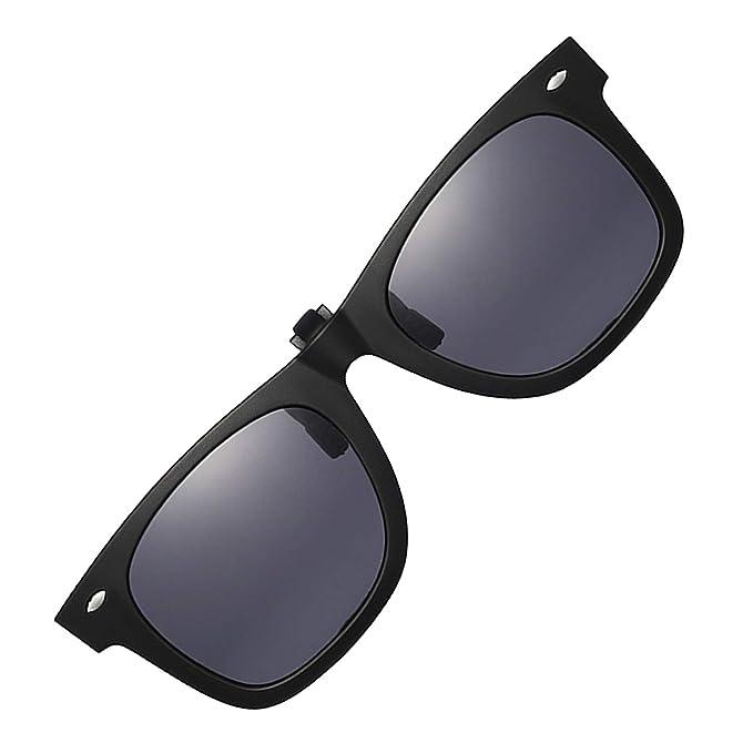 Amazon.com: Gafas de sol polarizadas con clip, unisex ...