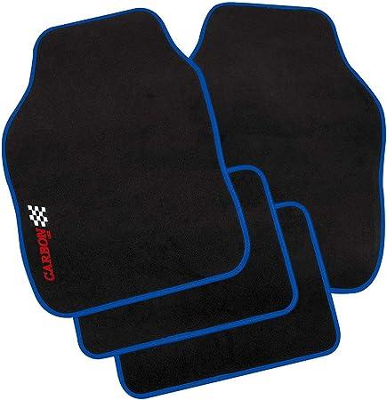 Petex 11380005 Autoteppich Universal Carbon 4 Teilig Blau Auto