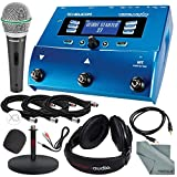 TC-Helicon VoiceLive Play Vocal Effect Processor Pedal and Deluxe Bundle w/Samson Q6 Mic + Xpix Mic Stand + Headphones + Cables