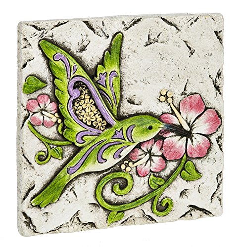 Ganz Hummingbird and Hibiscus Cement Wall Plaque 6.25 Inches ()