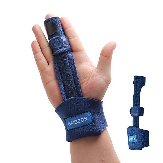 BMBZON Finger Splint Finger Splint Finger Phalanx and Metacarpal Fixation Belt Adjustable Pinky Finger Splint Malleable Metallic Hand Splint Pain Relief Finger Support