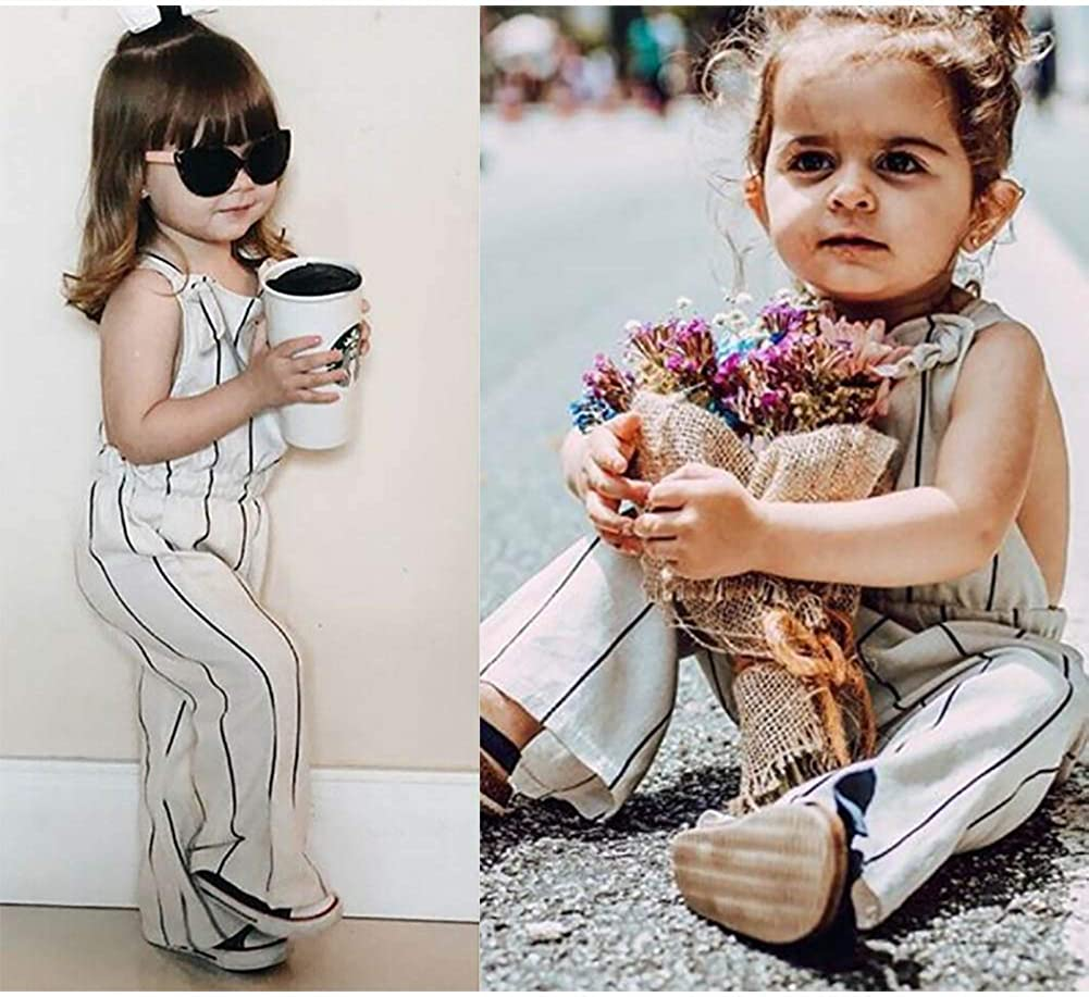 LXXIASHI Toddler Kid Baby Girl Halter Strap Romper Jumpsuit Overalls Long Pants Outfits Clothes