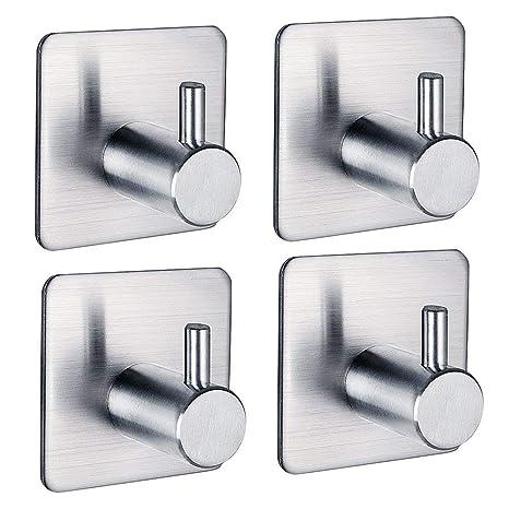 FOTYRIG Heavy Duty Adhesive Wall Hooks Resistente al agua antideslizante de acero inoxidable para correa de