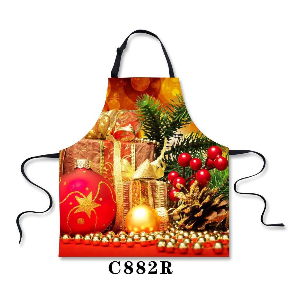 Horeset エプロン パールワールドプリント 感謝祭 クリスマスデザイン レディース キッチン クッキング エプロン ドレス ギフト カスタマイズ可 One Size  Multicolored 6 B07KR5N8WQ