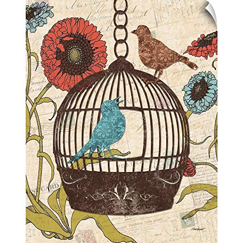 CANVAS ON DEMAND Todd Williams Wall Peel Wall Art Print Entitled Birds and Blooms III 29