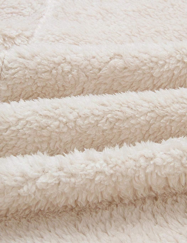 GuGio Womens Fuzzy Fleece Cardigan Long Coat Faux Fur Outwear Jacket w//Pockets