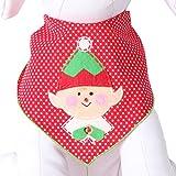 Tail Trends Christmas Dog Bandanas Elf Designer Appliques 100% Cotton (L)