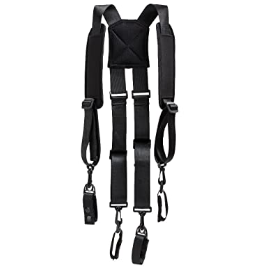 Amazon.com: H-harness Tactical Police Suspenders for Duty Belt with