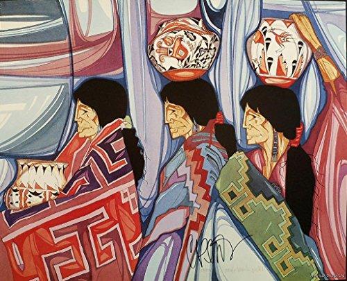 Photo Amado Pena Tres Artesanas Hand Signed Fine Art Poster