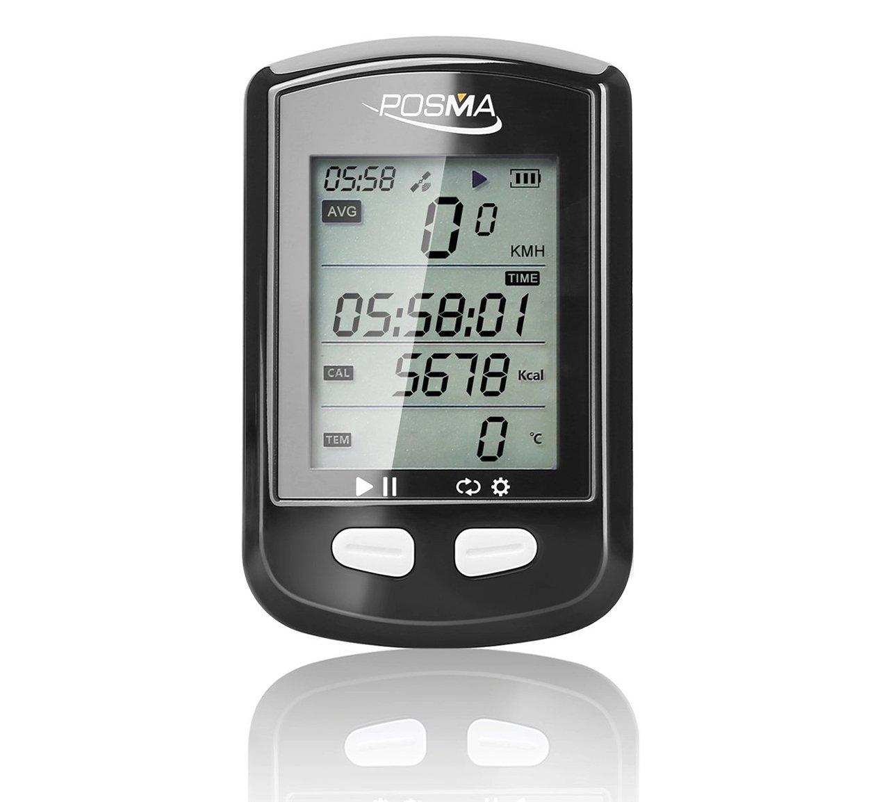 LYM POSMA DB2 GPS Cycling GPS Computer Speedometer Odometer Altimeter Calories, Wireless Cycle Bike Computer by LYM