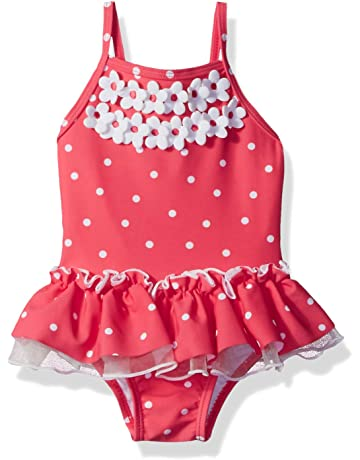 854ac17db300 Little Me Children's Apparel Baby and Toddler Girls UPF 50+ One Piece  Swimsuit