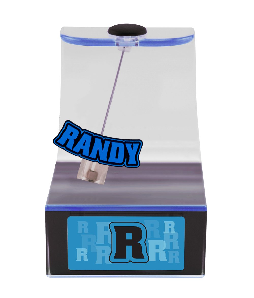 The Swing Thing Randy Solar Powered Personalized Dancing Desk Accessory with Swinging Name