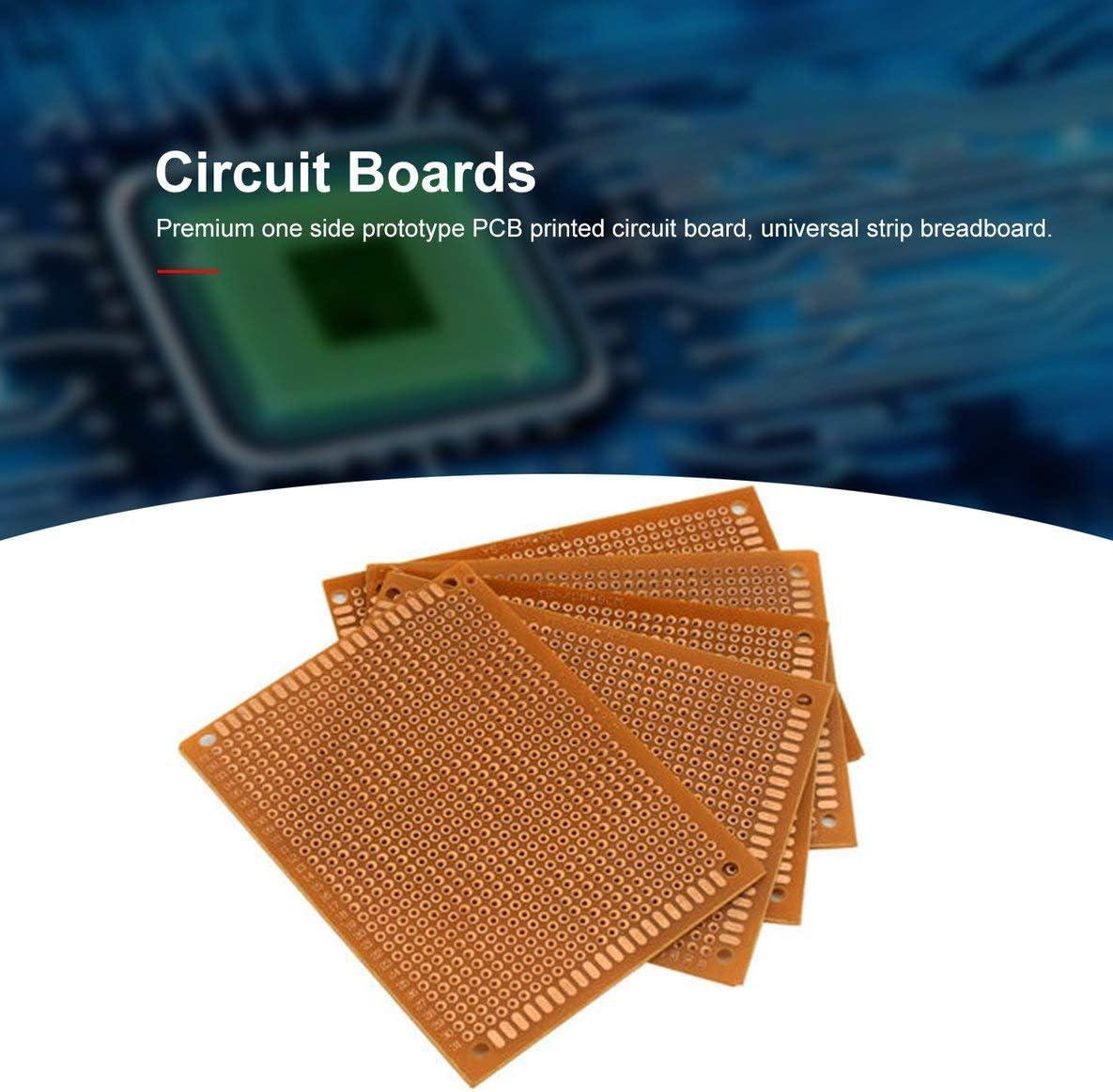 Rouku 10 PCS//Pack Prototype Papier Imprim/é PCB Circuit Board Panneau Simple C/ôt/é Universel Bande Breadboard pour Bricolage /À Souder