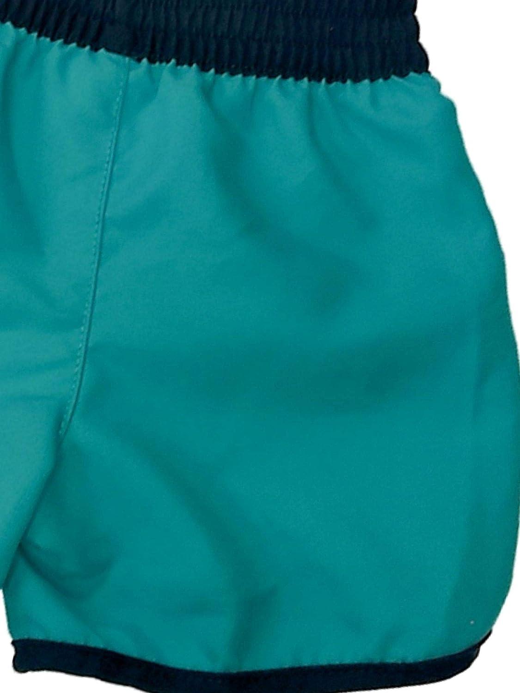 Infant Boys Green Shark Swim Trunks Print Appears When Wet Board Shorts