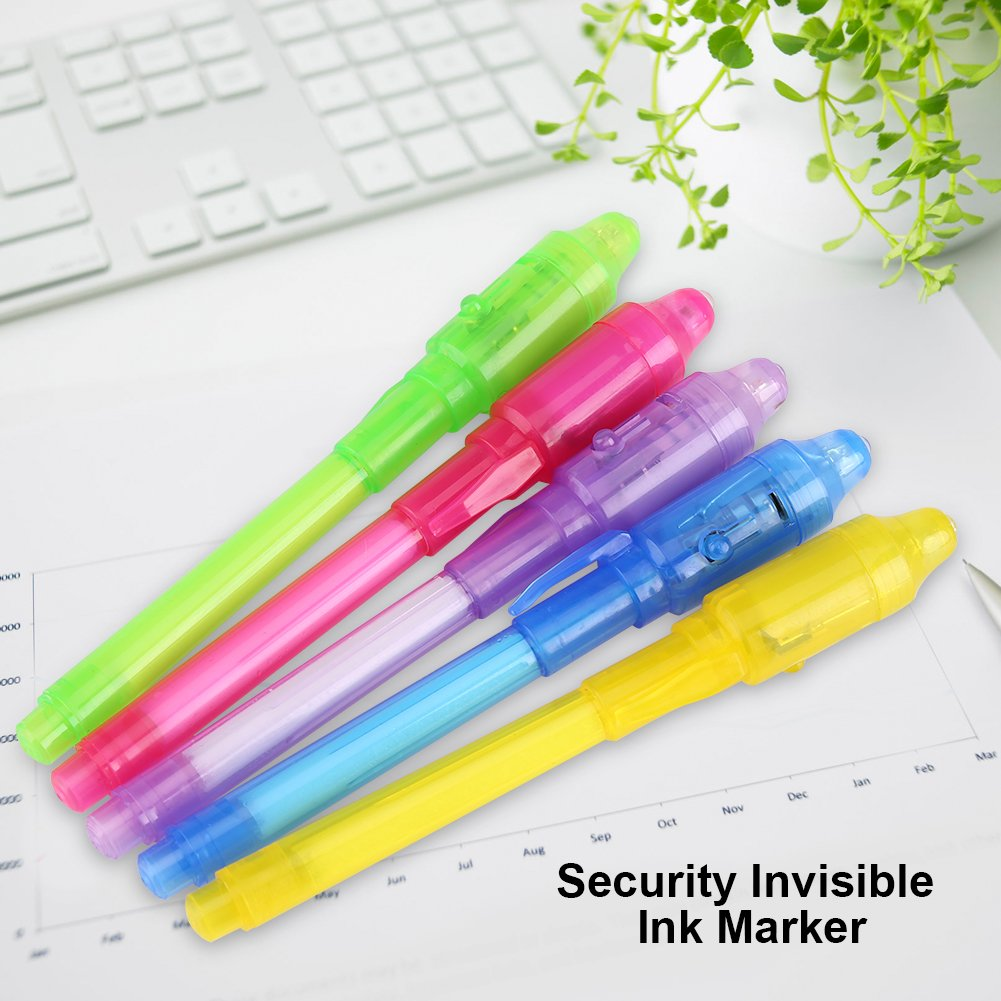 GLOGLOW Invisible Ink Pen Disappearing Secret Message Writer Spy Pen with UV Light Fun Activity Magic Marker Kid Pens for Secret Message & Party Favor Bag Goody Stuffer Ideas Gifts(Purple) by GLOGLOW (Image #9)