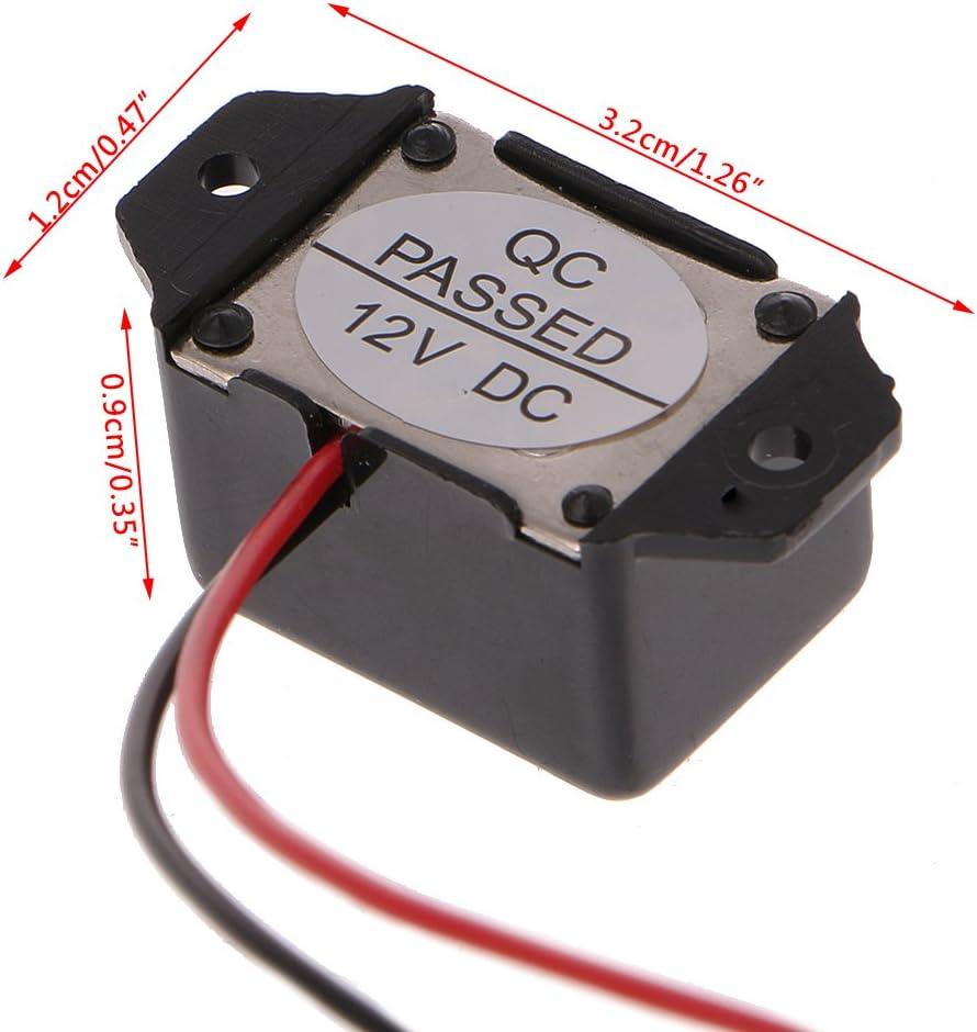 Alarmsummer DC 12V 85dB mini elektronischer Alarmsummer konstanter To 0U