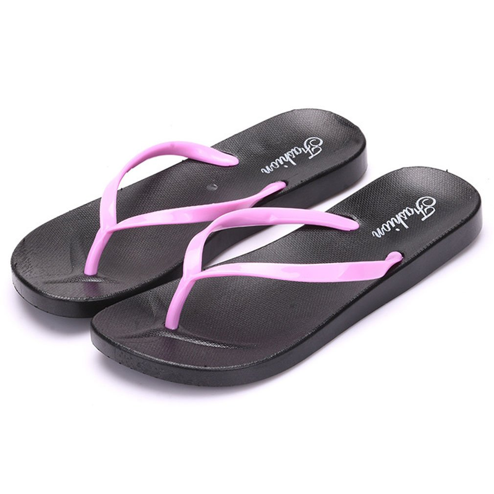 8bc451456b78 Xianshu Flip Flop Sandals for Women Clip Toe Thong Beach Slippers Bathroom  Shower Shoes (Pink-6 UK)  Amazon.co.uk  Shoes   Bags