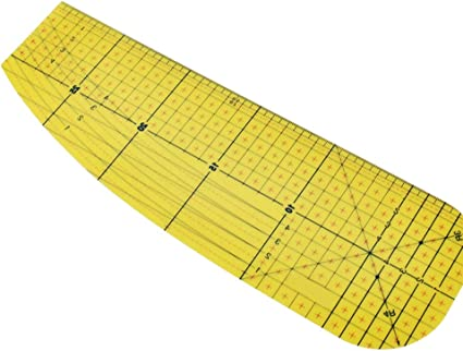 and Miter Corners Use with Dry or Steam Iron Long Hems and Press Deep Hems Patchwork Control Ruler Measure Quilting Ruler DIY Sewing Supplies Mark Fold Hot Ironing Ruler