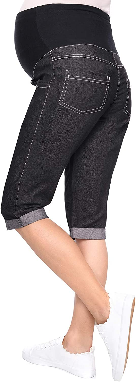 MODA PER LA GRAVIDANZA jeans pantaloni di maternit/à Denim Pantaloni capri bermuda