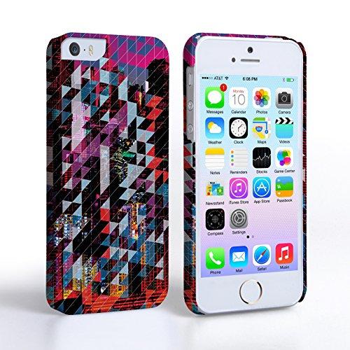 Caseflex iPhone 5 / 5S Hülle Blau / Rot Stadt-Muster Geometrisch Hart Schutzhülle