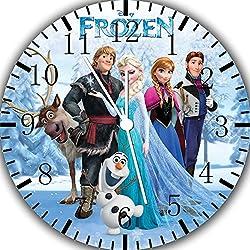 Frozen Elsa Anna Frameless Borderless Wall Clock W470 Nice for Gift or Room Wall Decor