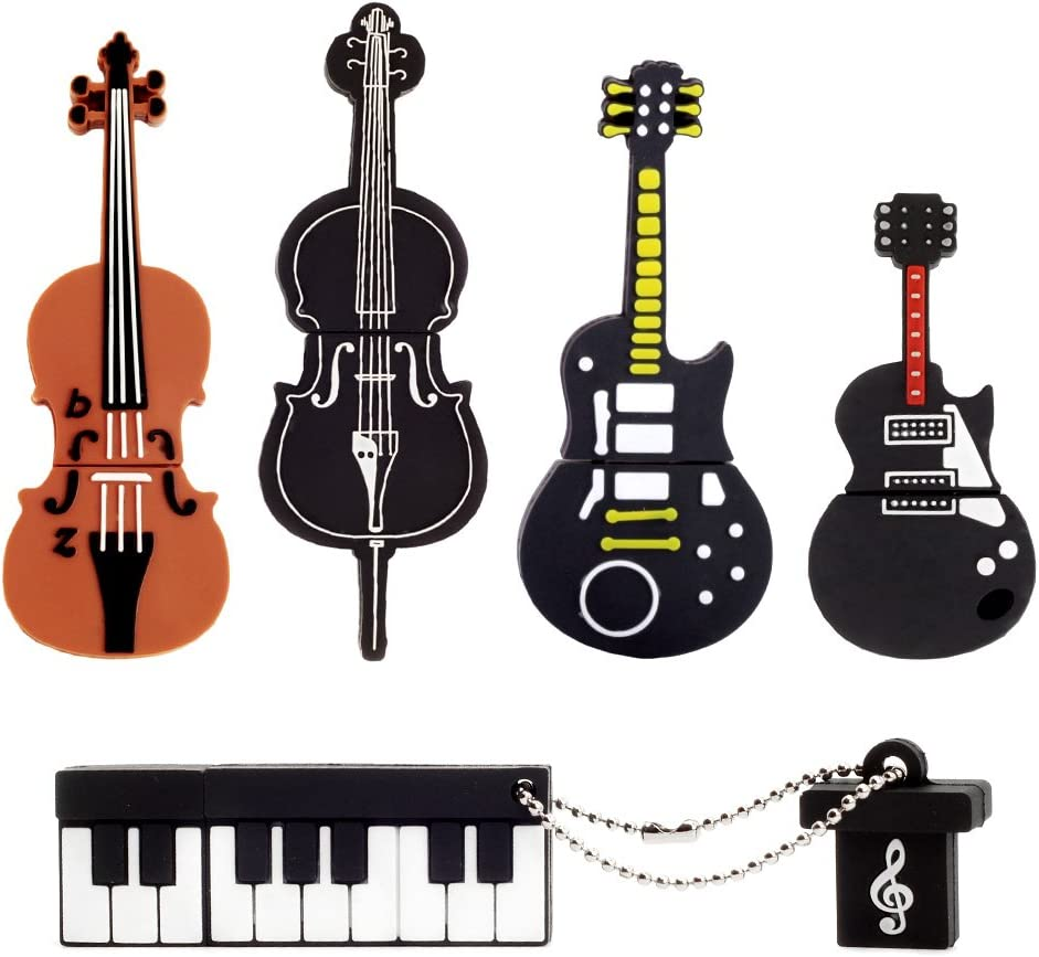 Amazon.com: LEIZHAN 5x8GB USB Flash Drive Musical Instruments USB ...