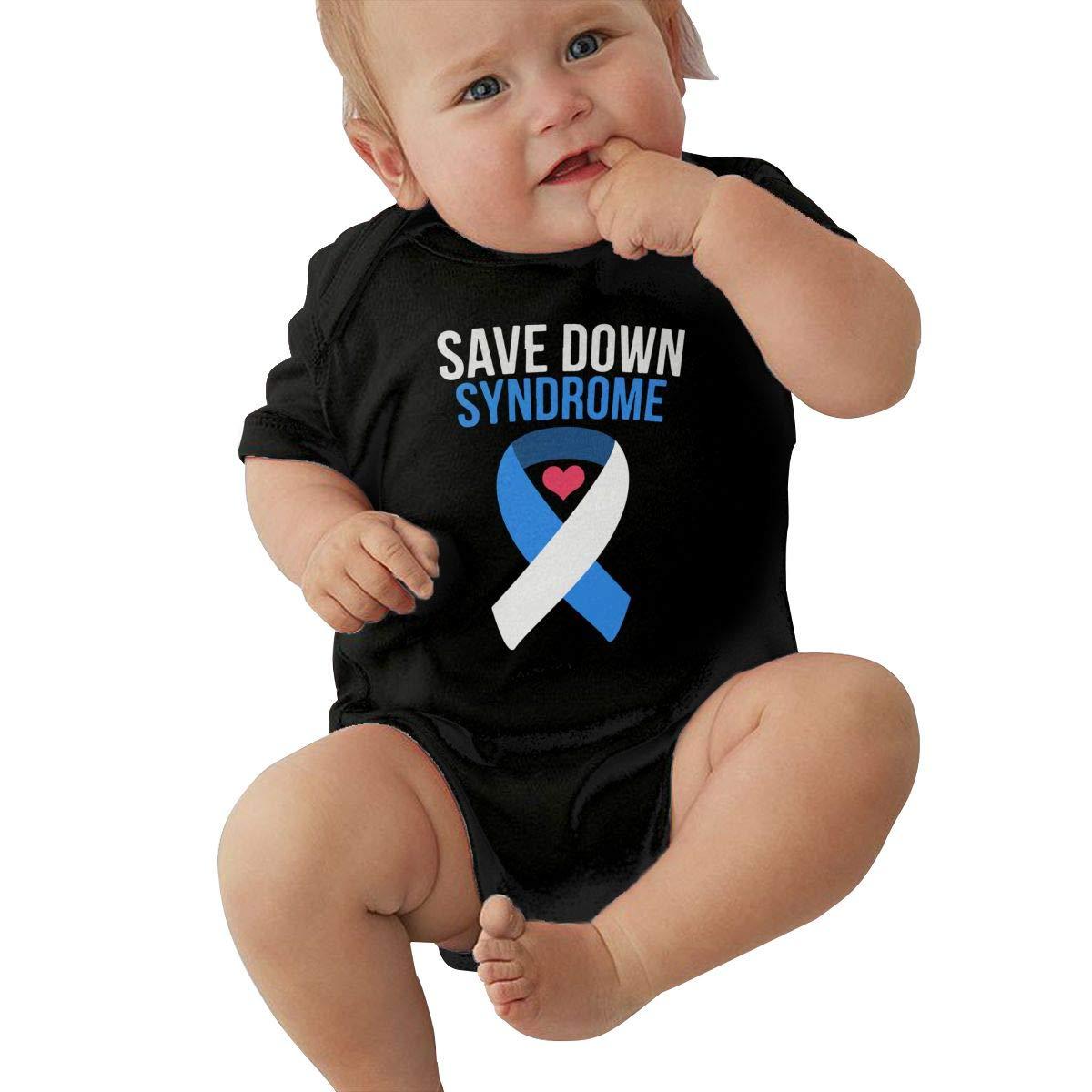 Save Down Syndrome Infant Baby Original Cotton Short-Sleeve Bodysuit
