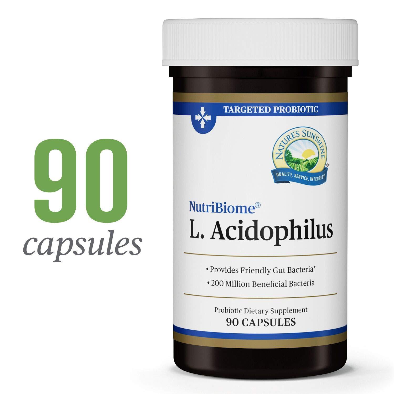 Nature's Sunshine Acidophilus Probiotics, 90 Capsules | Regulates The Intestinal Tract with Dairy Free Capsules