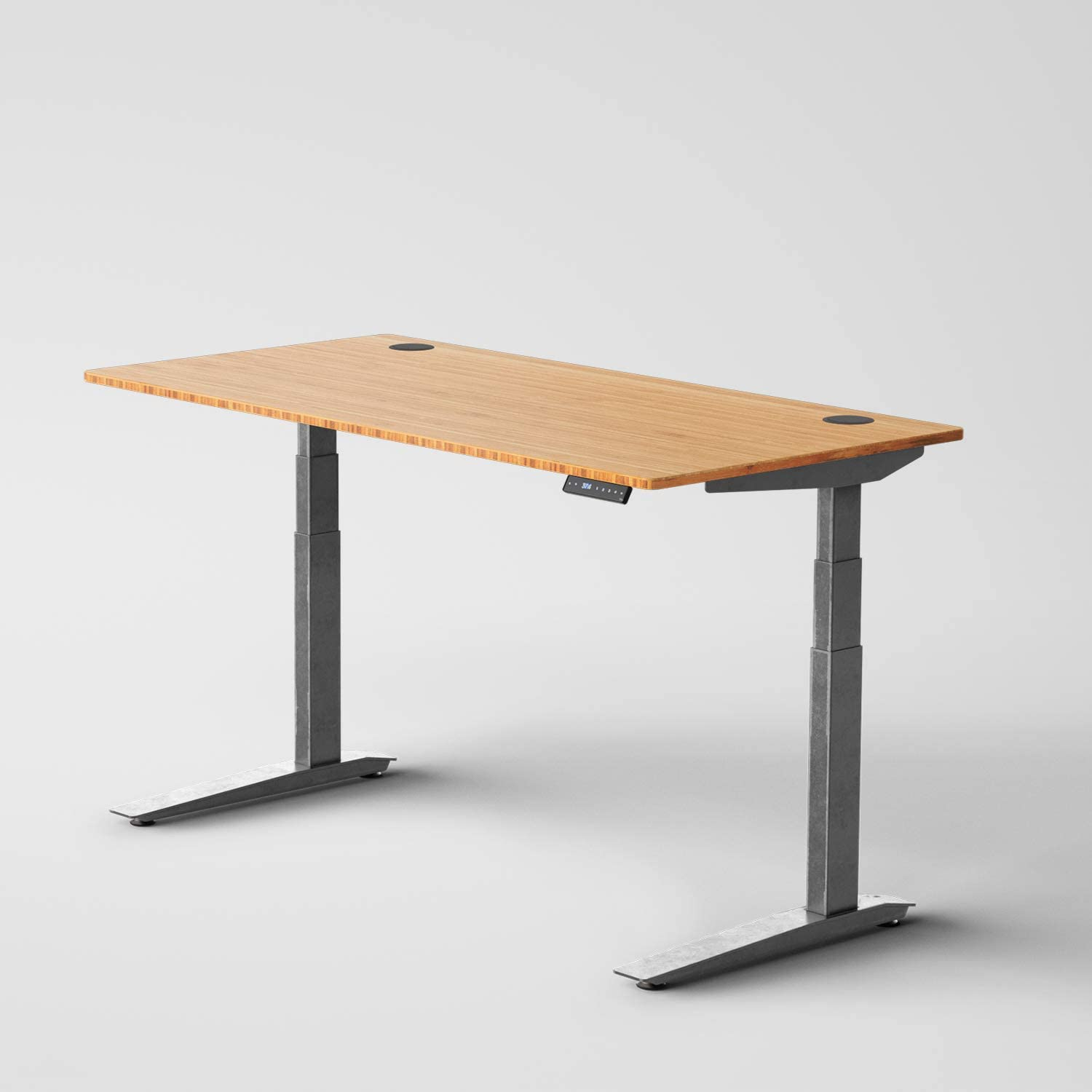 Jarvis Standing Desk Bamboo Top – Electric Adjustable Height Sit Stand Desk