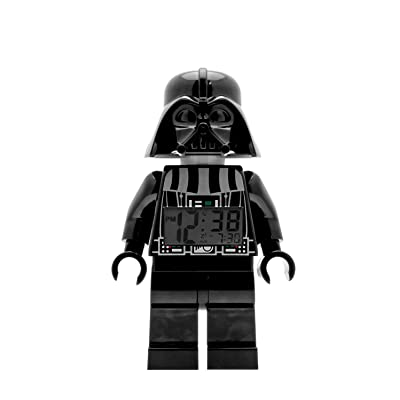 ClicTime Lego Star Wars 9002113 Darth Vader Kids Minifigure Light Up Alarm Clock | Black/Gray | Plastic | 9.5 inches Tall | LCD Display | boy Girl | Official: Clictime: Toys & Games