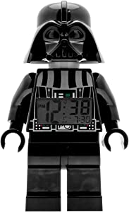 ClicTime Lego Star Wars 9002113 Darth Vader Kids Minifigure Light Up Alarm Clock | Black/Gray | Plastic | 9.5 inches Tall | LCD Display | boy Girl | Official
