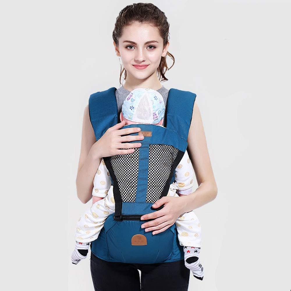 Edelehu Abnehmbarer Babyträger Babyträger Komfortabel und Ergonomisch Kinder-und Neugeborene Sling Multi-Position Tragen Sling Navy Blau