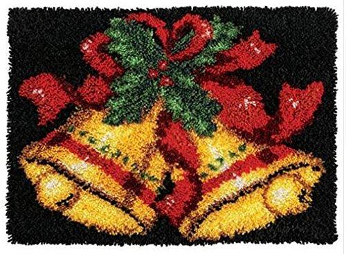 Sunny DIY Crochet Yarn Kits, 18.89''X14.56'', Needlework Kit DIY Crocheting Rug Yarn Cushion Embroidery Set, Christmas Rings by Sunny