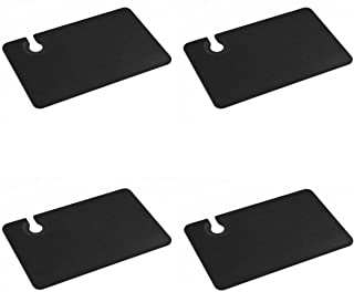 product image for Epicurean Slate 9 x 5.5 Inch Rectangular Cocktail Plate, Set of 4
